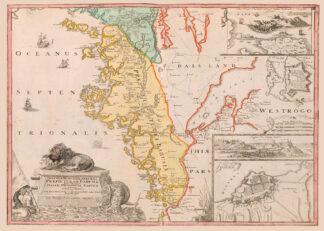 Karta över Bohuslän och Dalsland från 1729.