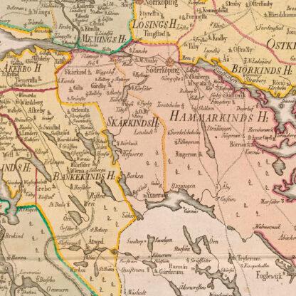 Karta över Östergötland 1779