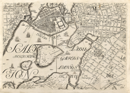 Karta över Stockholm från 1733