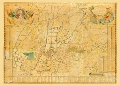 Karta över Stockholm 1733