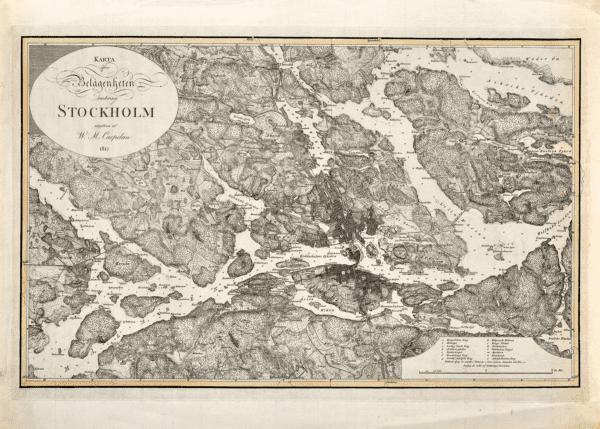 Karta över Stockholm 1817.