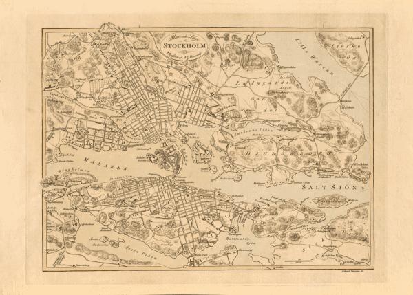 Karta över Stockholm 1818