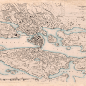 Karta över Stockholm 1838