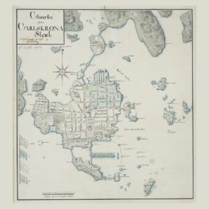 Poster över Karlskrona stad 1806.