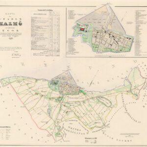 Karta över Malmö 1853