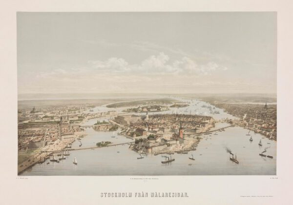 Stockholm från mälarsidan 1872-73