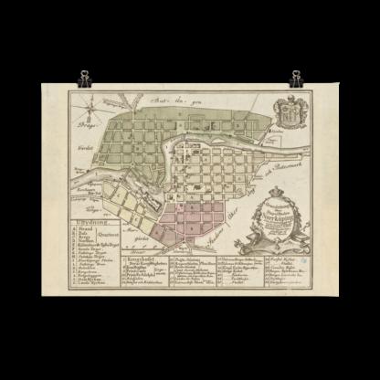 Karta över Norrköping 1769