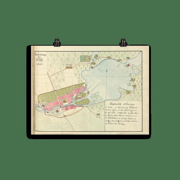 Karta över Gävle 1700-tal