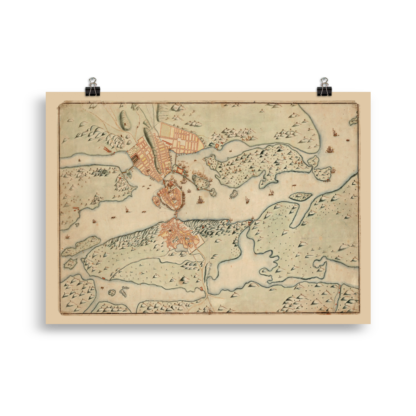 Karta över Stockholm 1642