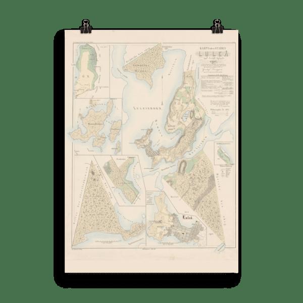 Karta över Luleå 1857