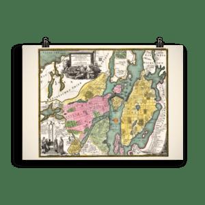 Karta över Stockholm från omkring 1700 till 1724