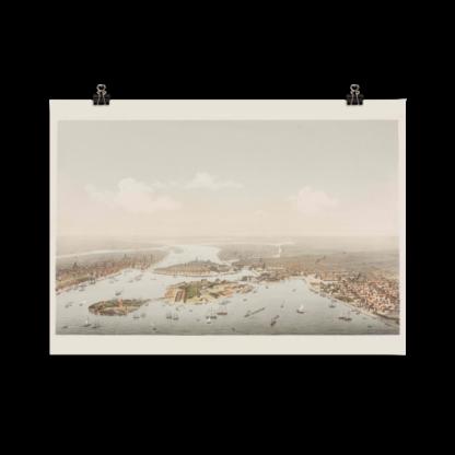 Stockholm från Saltsjön 1872-73