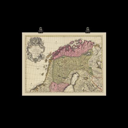 Norra Sverige och Norge 1708
