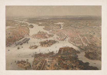 Stockholm ballongpanorama 1868