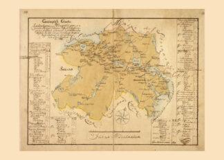 Vägkarta över Östergötland 1740