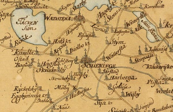 Vägkarta över Östergötland