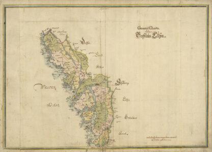 Generalkarta över Bohuslän 1600-tal