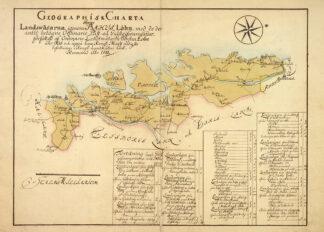 Vägkarta Bohuslän 1733