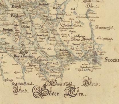 Karta över Mälaren 1717
