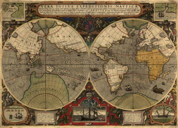 Världskarta 1577-1588