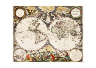 Världskarta 1672
