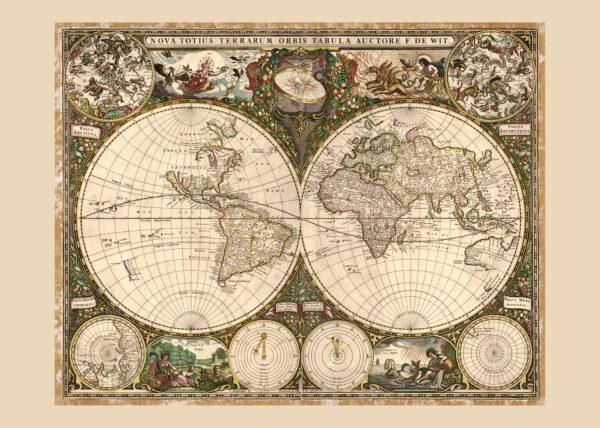 Världskarta 1660